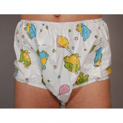 Snap Sided Nappy Pants - Michael - Soft PVC - Red - M