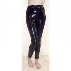 Leggins - ROBIN - Latex 0,35mm - Violett-metallic - XL