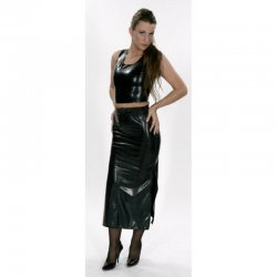 Skirt - Undine - Latex 0.35mm - Black - XL