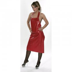 Apron - Mirabella Midi - Latex 0.5mm - Red