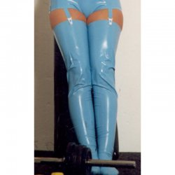 Stockings - Wilma - Latex 0.35mm - Rose - L