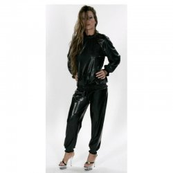 Track pants - Harald - PVC fabric 0.45mm - Black - XXL