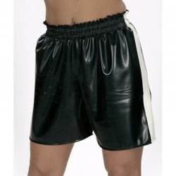 Shorts - KIEL- Latex 0,8mm - Silber-metallic - XXL