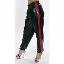 Track pants - Husum - Shiny PVC - Black - L