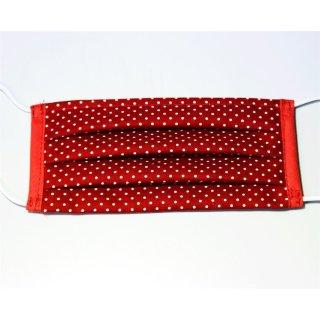 Rot mit weißen punkten